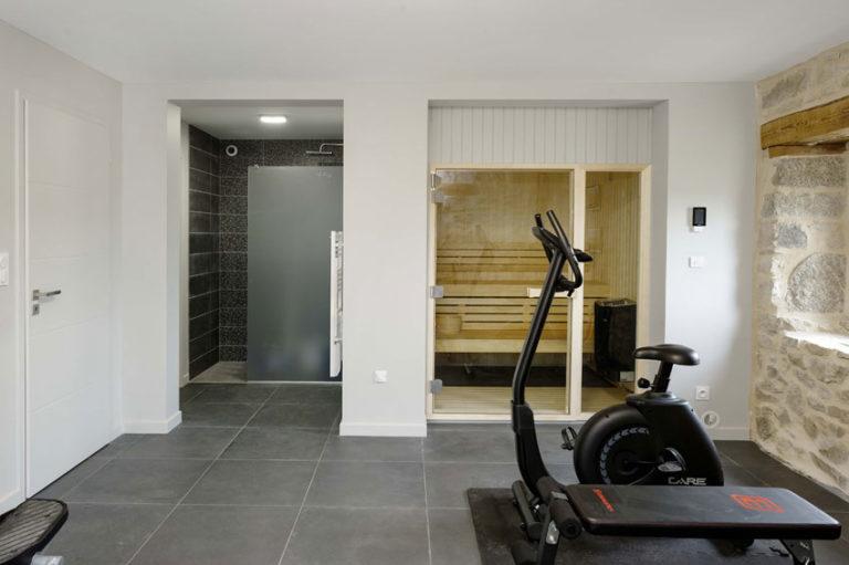Espace Sauna et Fitness Gite Maison Chauvet